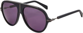 Balmain BL2104 Matte Black Aviator Sunglasses