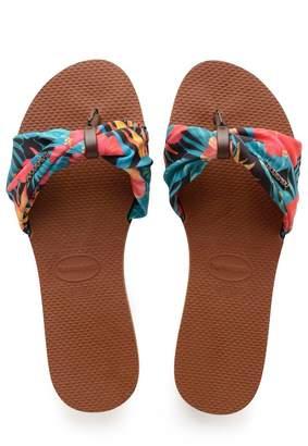 Havaianas Womens You Saint Tropez Sliders - Brown