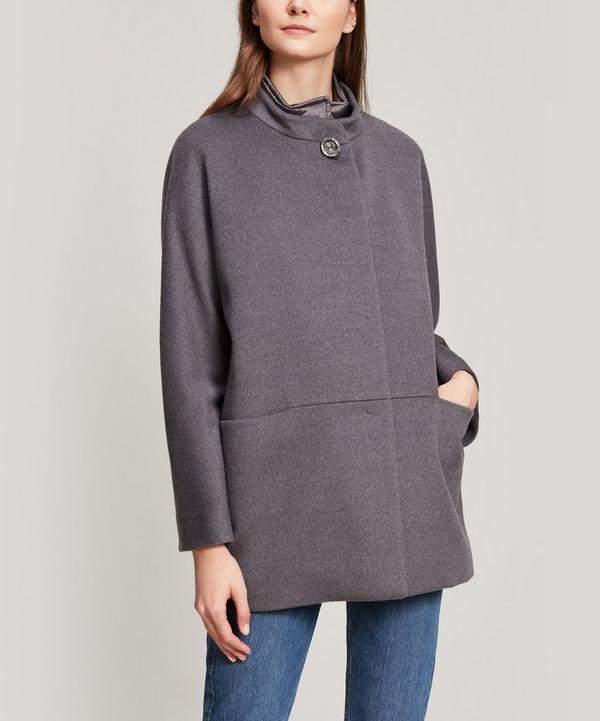 Virgin Wool Padded Lining Coat