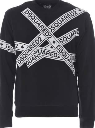 DSQUARED2 Taped Logo Sweatshirt