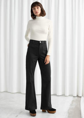 And other stories Flared Mid Rise Jeans