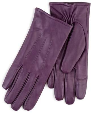 totes Purple Leather Gloves With Smart-Touch