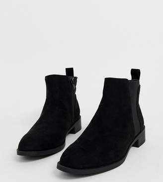 Simply Be Wide Fit Simply Be wide fit Chelsea boots in black suede