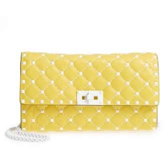 Valentino Rockstud Matelasse Leather Shoulder Bag