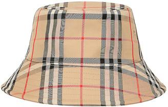 Burberry Check Bucket Hat in Archive Beige | FWRD