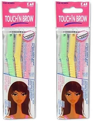 Kai TOUCH N BROW Eyebrow Razor (Pack of 2)
