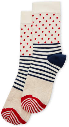 Happy Socks Stripes & Dots Crew Socks