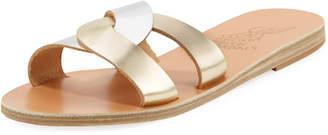 Ancient Greek Sandals Two-Tone Metallic Flat Sandal