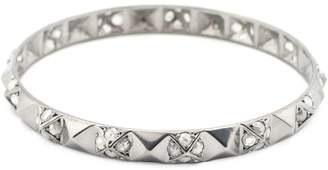 Loree Rodkin pyramid stud diamond bangle