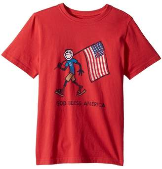 Life is Good Crusher God Bless America Tee Boy's T Shirt