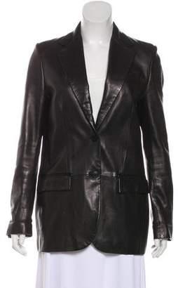 Gianni Versace Leather Notch-Lapel Blazer