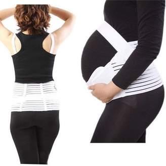 LACASA Adjustable Support Belt Essential During Pregnancy Extra Comfort With FREE 2 Pairs of liquid Heel Open-Toe Socks (Maternity Bundle)