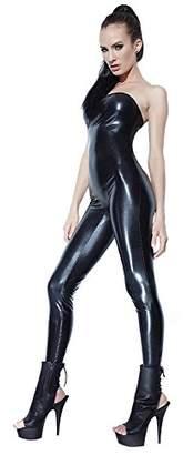 Coquette Women's Wet Look Tube Jumpsuit