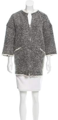 Isabel Marant Fringe-Trimmed Wool Jacket