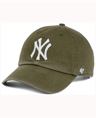 '47 New York Yankees Olive White Clean Up Cap