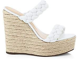 Schutz Women's Dyandre Braided Platform Wedges Sandals
