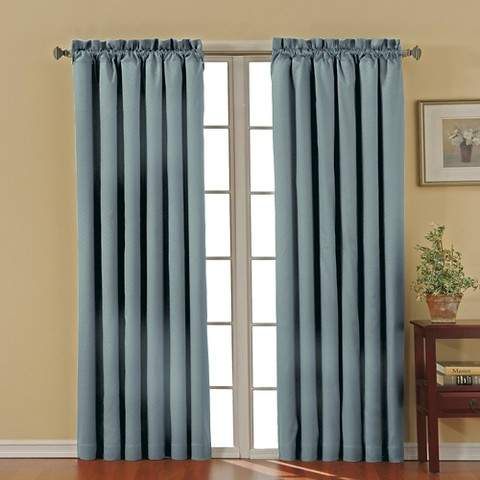 Thermaback Canova Blackout Curtain Panel - River Blue (42