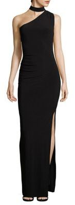 Laundry by Shelli Segal Choker One-Shoulder Gown $195 thestylecure.com