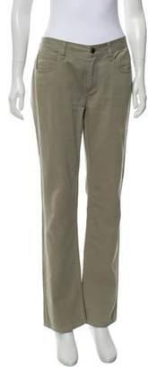 Burberry Mid-Rise Straight-Leg Jeans Grey Mid-Rise Straight-Leg Jeans