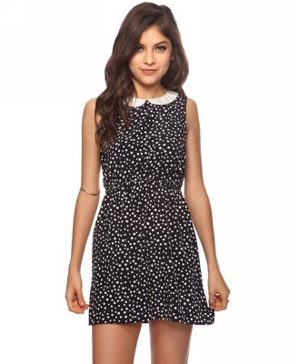 Forever 21 Dotted Peter Pan Dress