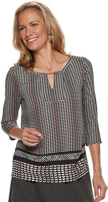 Dana Buchman Women's Metal-Accent Keyhole Top