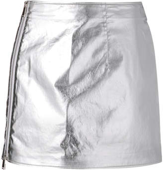 Paco Rabanne metallic mini skirt
