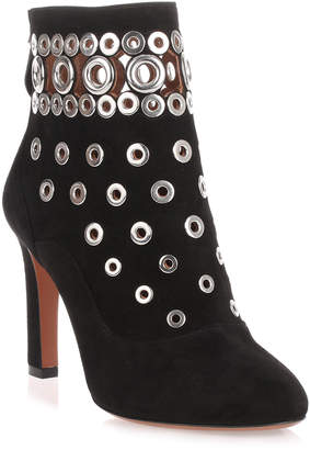 Alaia Black suede eyelet boot