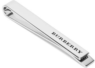 Burberry Logo Engraved Tie Pin - Mens - Silver