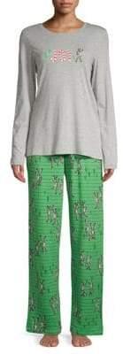 Hue Two-Piece Joy Printed Pajama Set