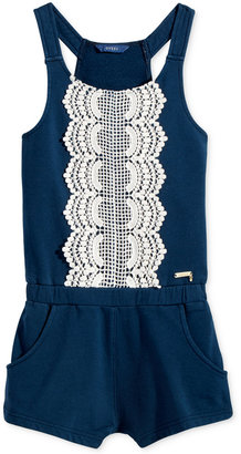GUESS Lace Detail Romper, Big Girls (7-16) $39 thestylecure.com