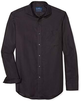 Buttoned Down Men's Classic Fit Cutaway-Collar Supima Cotton Dress Casual Shirt