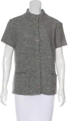 Eileen Fisher Wool Short Sleeve Cardigan