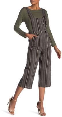Style Rack Striped V-back Jumpsuit