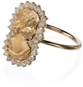 Anissa Kermiche 18K yellow gold Madame Roland diamond ring