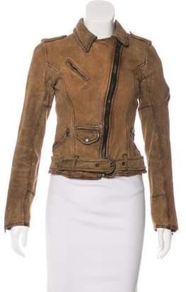 AllSaints Distressed Suede Jacket