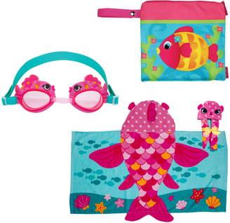 Stephen Joseph Wet/Dry Bag, Hooded Towel & Goggles
