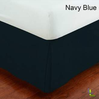 Living & Co 600TC 100% Egyptian Cotton 1PCs Box Pleated Bedskirt Solid (Drop Length: 20 inches)
