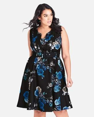 City Chic Bouquet Dress