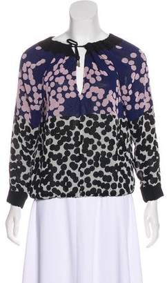 Diane von Furstenberg Pattern Long Sleeve Blouse