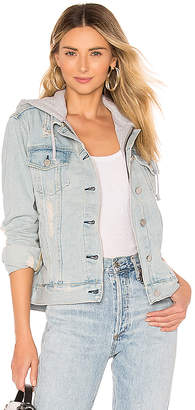 KENDALL + KYLIE Destructed Denim Trucker Jacket.