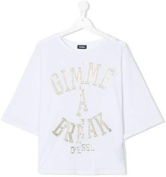 Diesel Gimme A Break printed T-shirt