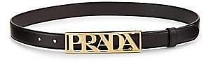 Prada Women's Logo Belt