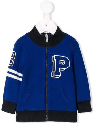 Ralph Lauren Kids zip front varsity sweater