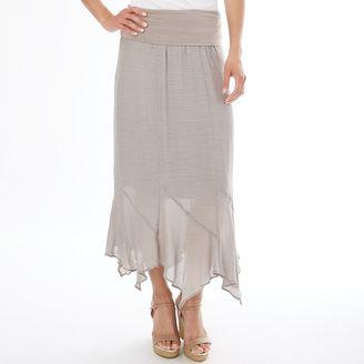 Women's Apt. 9® Gauze Handkerchief Maxi Skirt $36 thestylecure.com