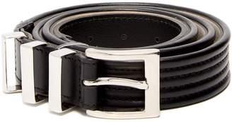 Balmain Triple-loop leather belt