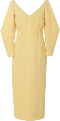 Emilia Wickstead Calla Full Sleeve Button Front Dress