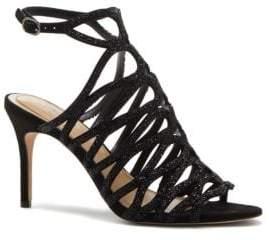 Vince Camuto Imagine Plash Crystal Studded Stiletto Heel Sandals