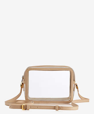 GiGi New York Collins Crossbody Clear Bag with Vachetta Trim