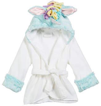 Swankie Blankie Baby Girls' Hooded Unicorn Robe