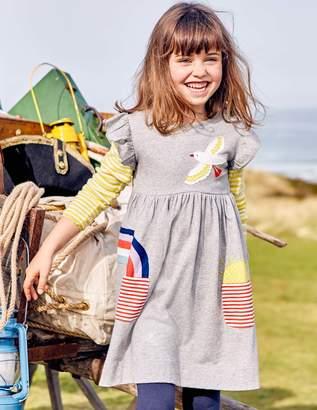 Boden Applique Pocket Dress